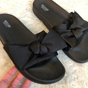 Mossimo Supply Co. Shoes - Mossimo Julisa slide bow sandals black slip on
